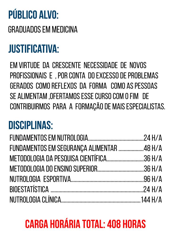 DISCIPLINAS DE NUTROLOGIA